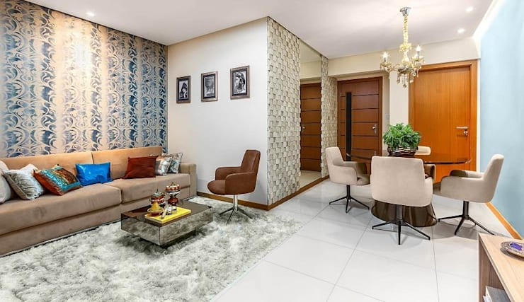 Apartamento - Puerto Madero: Sala de estar  por DUE Projetos e Design