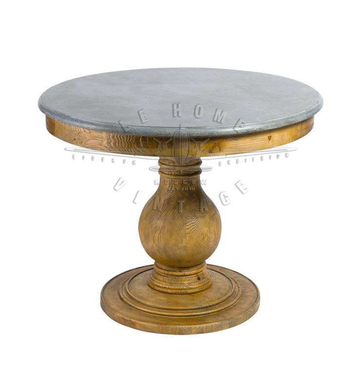 Стол круглый T104:  в . Автор – LeHome Interiors, Лофт Дерево Эффект древесины