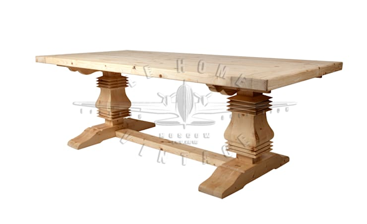 Стол обеденный T117:  в . Автор – LeHome Interiors, Лофт Дерево Эффект древесины