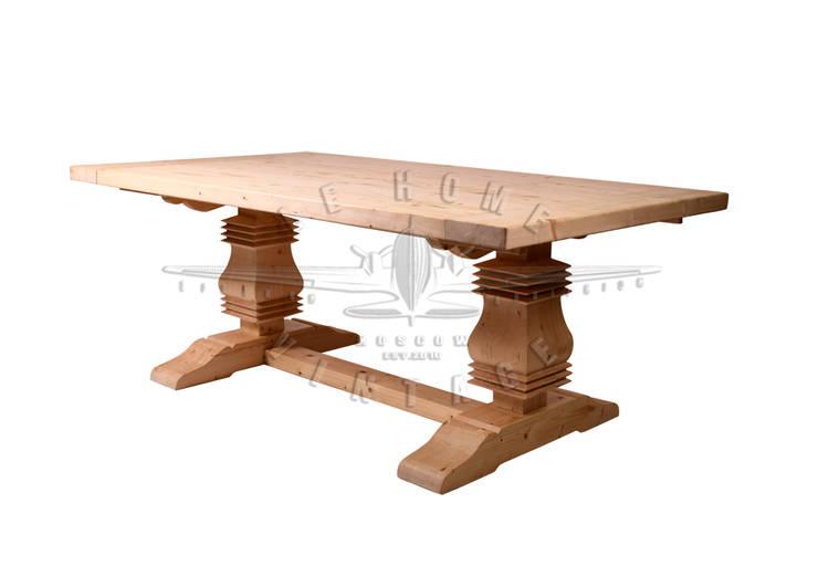 Стол обеденный T118:  в . Автор – LeHome Interiors, Лофт Дерево Эффект древесины
