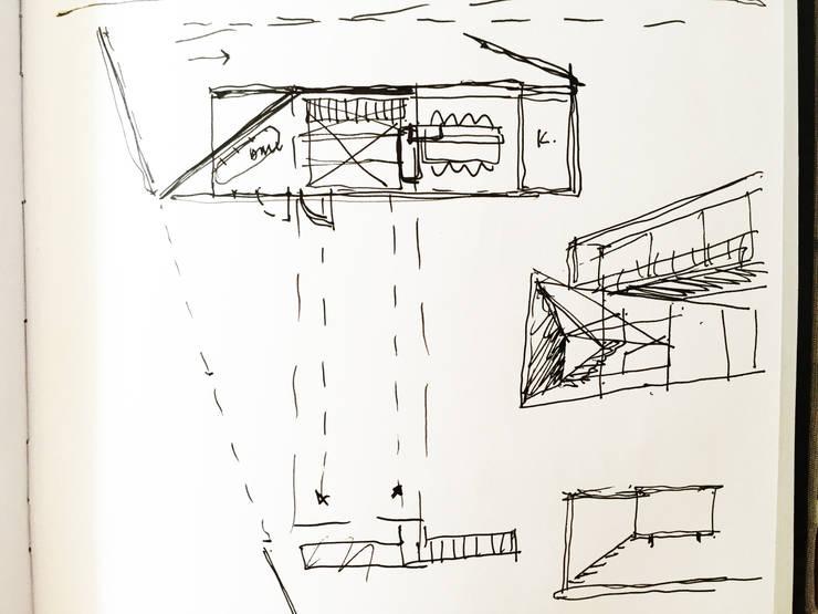 CROQUIS del PROCESO DE DISEÑO:  de estilo  por CCMP Arquitectura