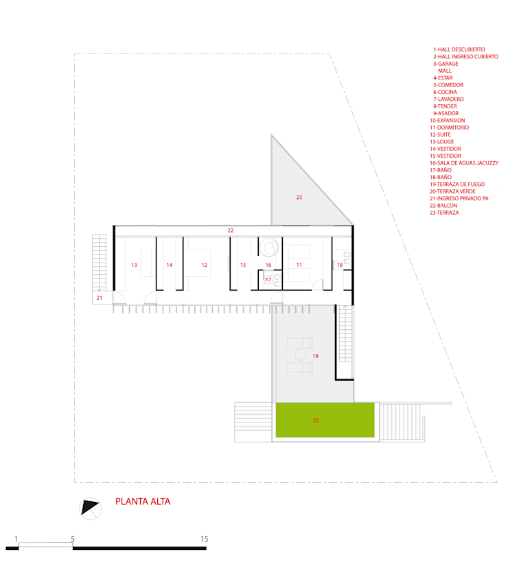 PLANTA ALTA:  de estilo  por CCMP Arquitectura