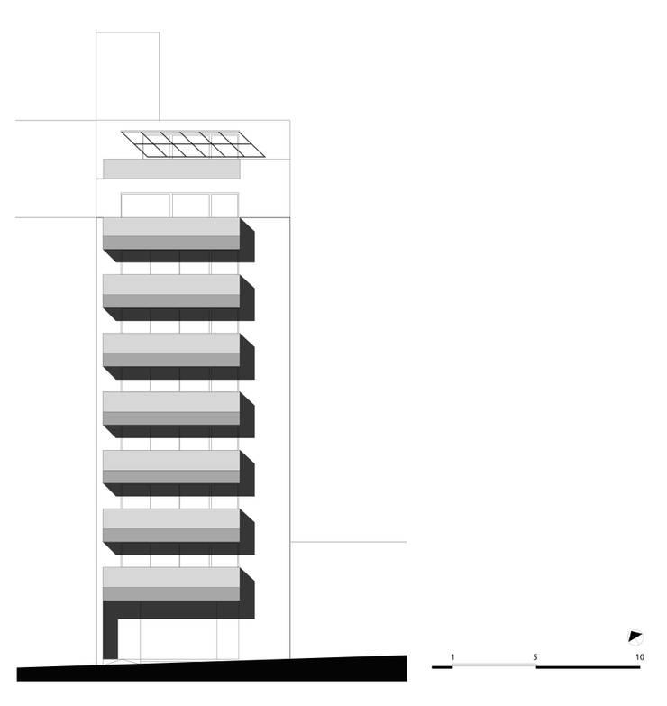 VISTA desde la CALLE: Casas de estilo  por CCMP Arquitectura