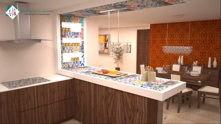 Casa Arán: Cocinas de estilo  por ISLAS & SERRANO ARQUITECTOS