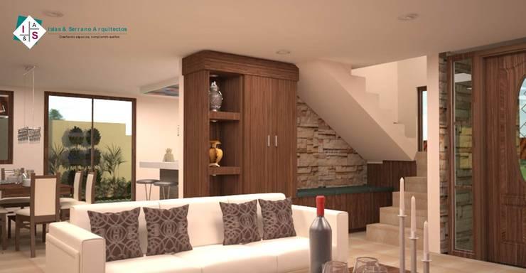 Salas / recibidores de estilo  por ISLAS & SERRANO ARQUITECTOS