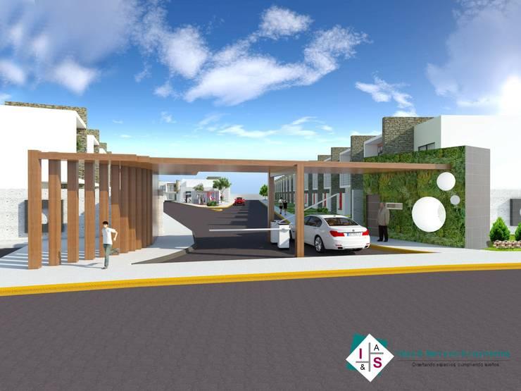 Privada Residencial: Casas de estilo  por ISLAS & SERRANO ARQUITECTOS