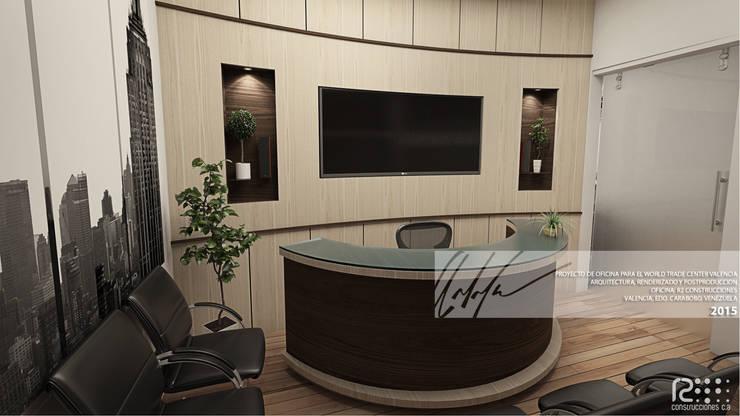 Recepción De Oficina: Oficinas de estilo minimalista por Arq.AngelMedina+