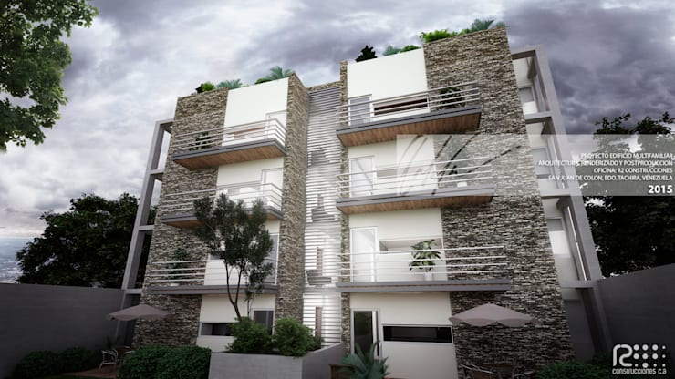 FACAHADA PORTERIOR: Casas de estilo  por Arq.AngelMedina+