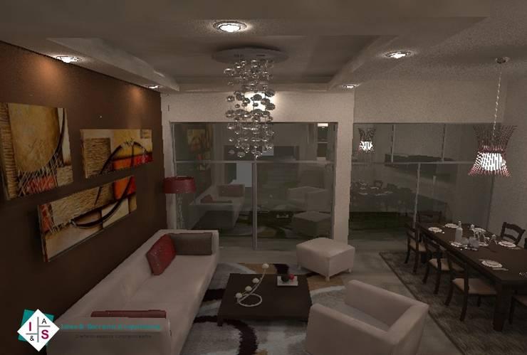 Interiorismo CF: Salas de estilo  por ISLAS & SERRANO ARQUITECTOS