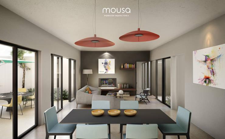 Casa Alor: Comedores de estilo  por mousa / Inspiración Arquitectónica