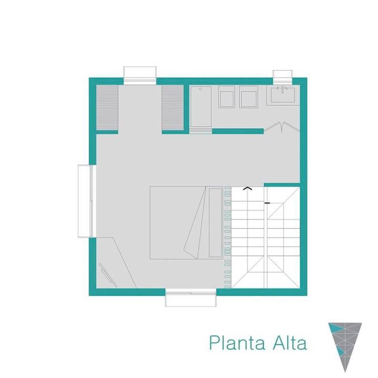 Planta alta: Casas de estilo  por JUNE arquitectos