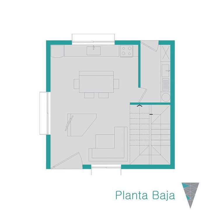 Planta baja: Casas de estilo  por JUNE arquitectos