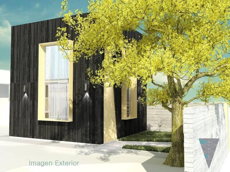 Fachadas: Casas de estilo  por JUNE arquitectos