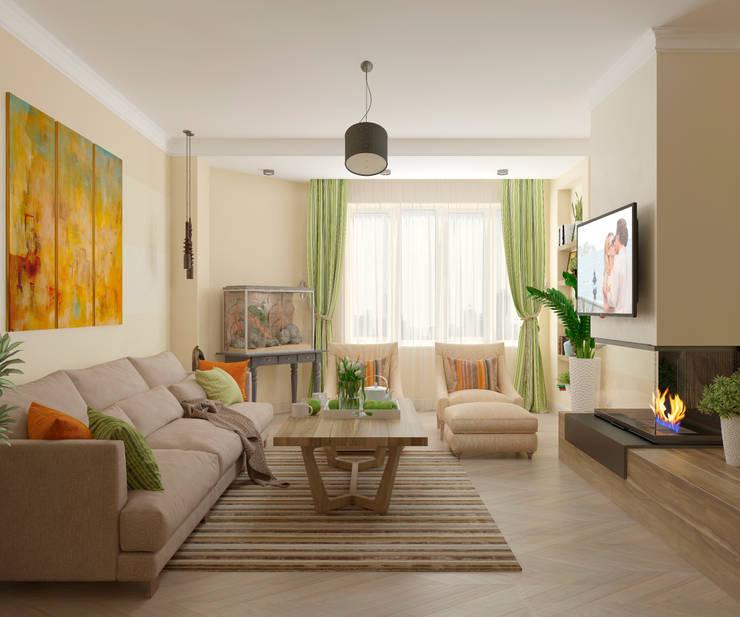 mediterranean Living room by Студия дизайна Дарьи Одарюк