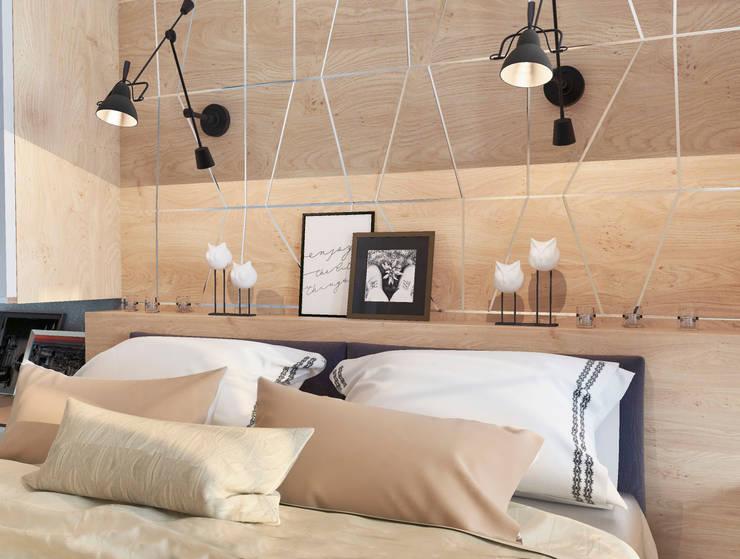 Студия дизайна Дарьи Одарюкが手掛けた寝室