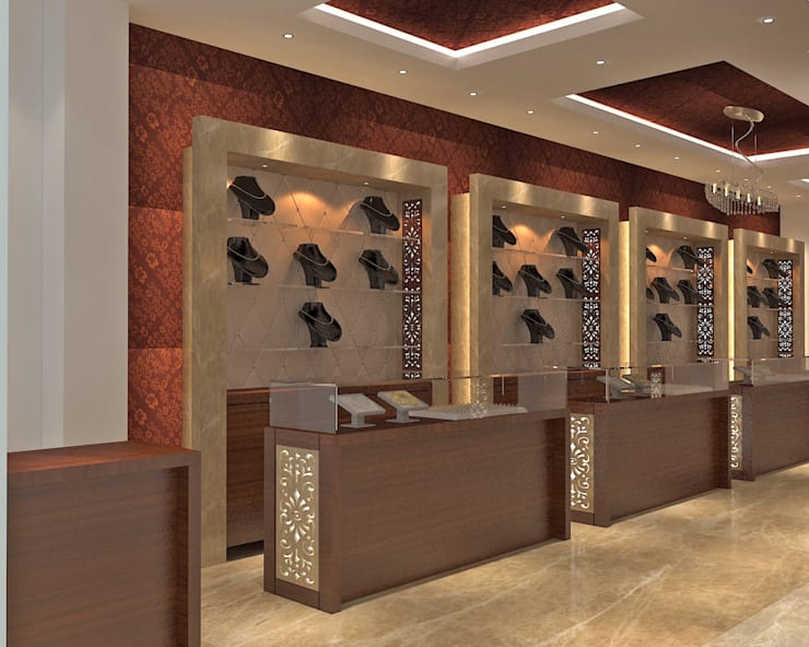 Jewellery store in Mumbai:  Offices & stores by A.S.Designs,Asian