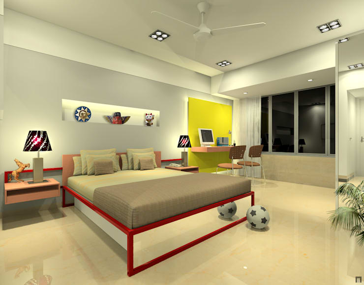 Children's bedroom:  Bedroom by A.S.Designs