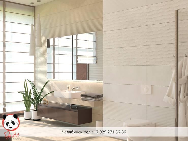 "Bathroom ""Waves whisper"": modern Bathroom by Panda Studio"
