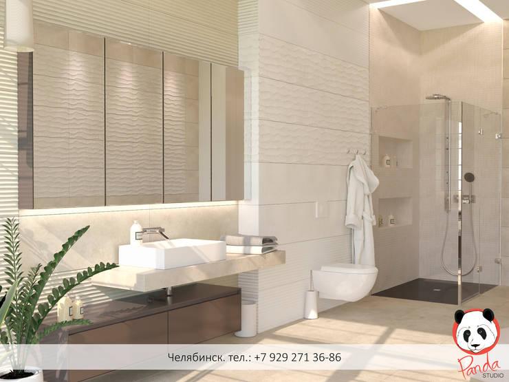 Bathroom <q>Waves whisper</q>: modern Bathroom by Panda Studio
