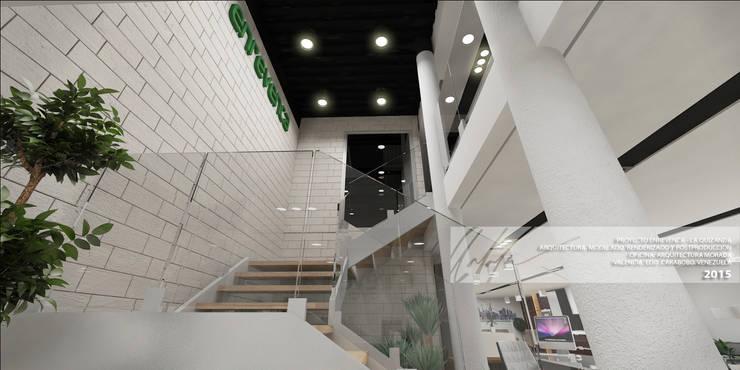 ESCALERAS: Oficinas y Tiendas de estilo  por Arq.AngelMedina+
