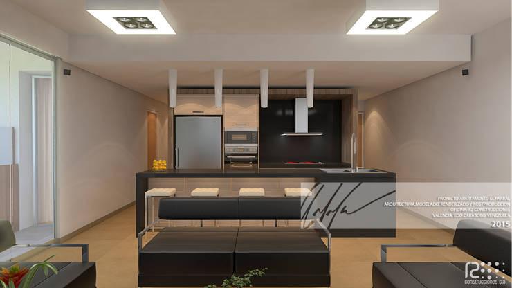SALA: Salas / recibidores de estilo  por Arq.AngelMedina+