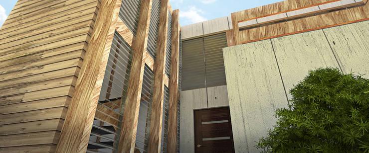 AREA DE AMPLIACION: Casas de estilo  por Arq.AngelMedina+