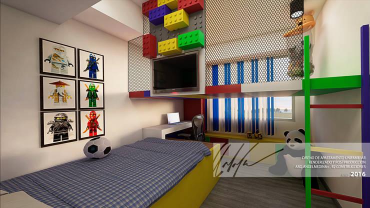 Habitacion de ninos A: Cuartos infantiles de estilo  por Arq.AngelMedina+