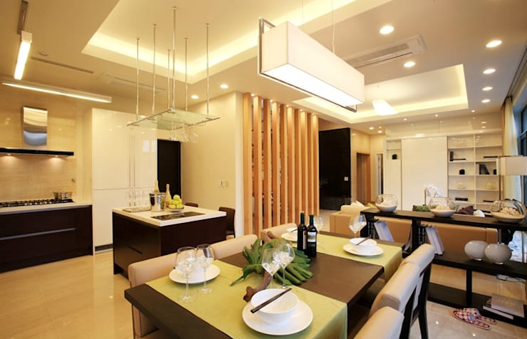 Cocinas de estilo moderno por 한글주택(주)