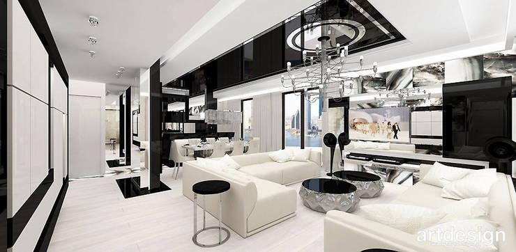 LOOK #69   Apartament: styl , w kategorii Salon zaprojektowany przez ARTDESIGN architektura wnętrz,Eklektyczny