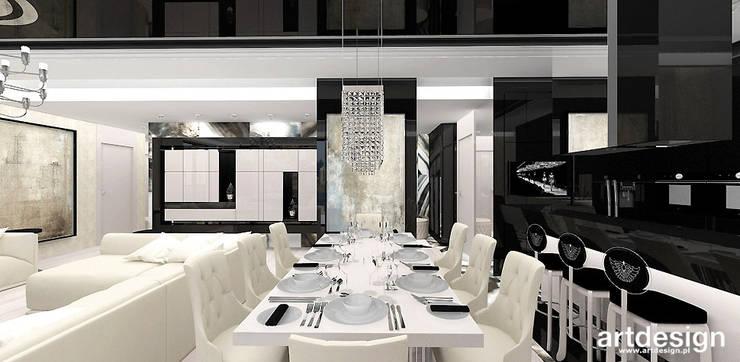 LOOK #69   Apartament: styl , w kategorii Jadalnia zaprojektowany przez ARTDESIGN architektura wnętrz,Eklektyczny