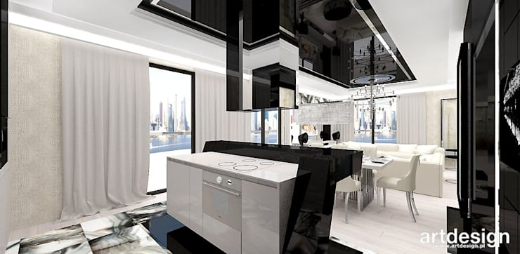 LOOK #69   Apartament: styl , w kategorii Kuchnia zaprojektowany przez ARTDESIGN architektura wnętrz,Eklektyczny