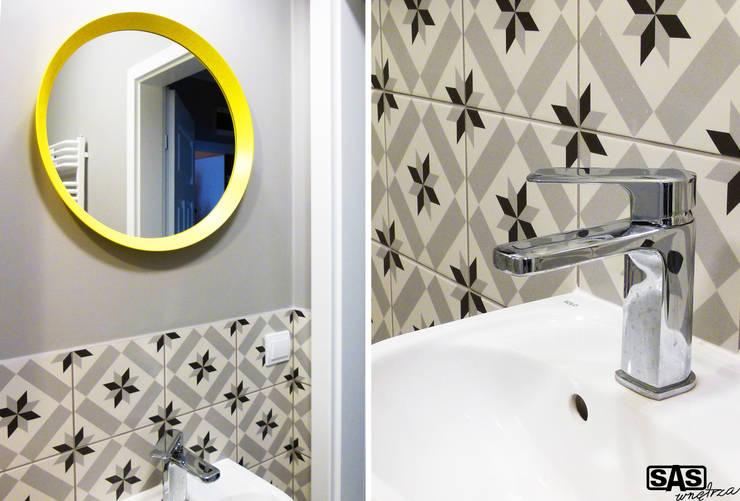 Projekt mieszkania na wynajem w Zielonej Górze: styl , w kategorii Łazienka zaprojektowany przez SAS