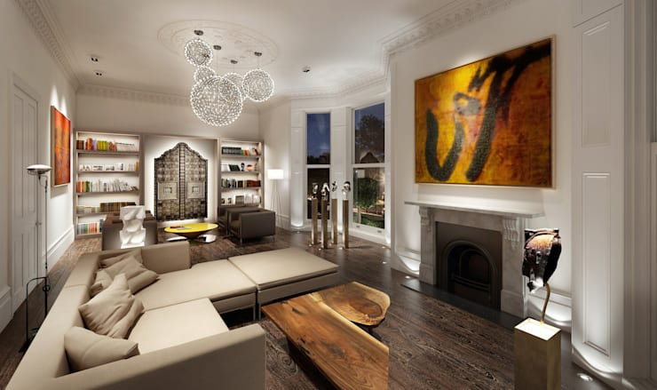 House in Notting Hill by Recent Spaces: modern Living room by Recent Spaces
