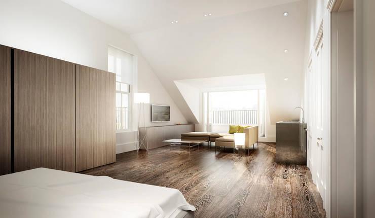 ห้องนอน by Recent Spaces