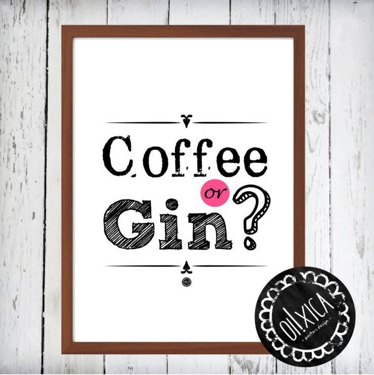 Poster *Coffee or Gin?: Arte  por Oi! Xica
