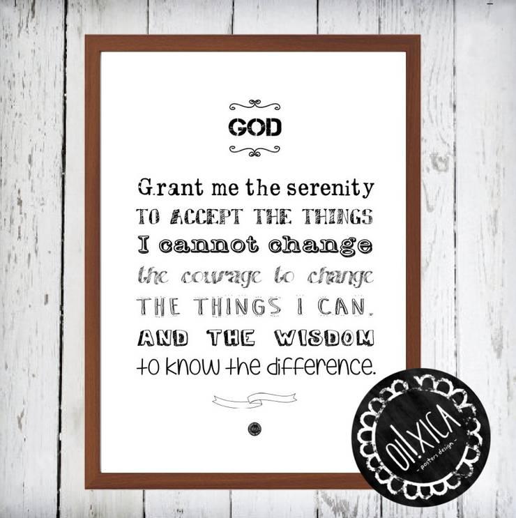 Poster *Serenity Prayer: Arte  por Oi! Xica