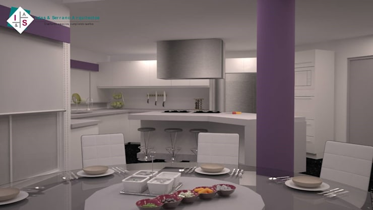Propuesta 1 Cocinas modernas de ISLAS & SERRANO ARQUITECTOS Moderno