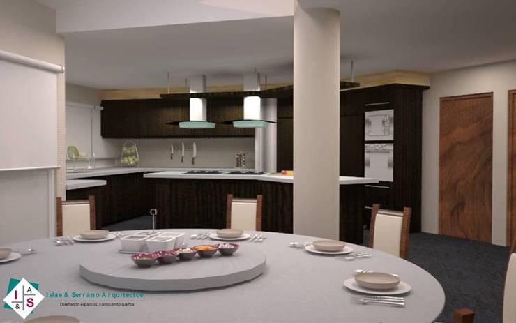 Propuesta 2 Cocinas modernas de ISLAS & SERRANO ARQUITECTOS Moderno