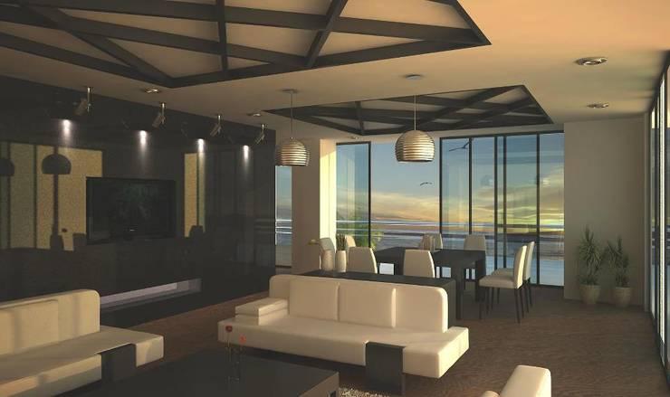 SALA DE ESTAR: Salas de estilo  por Ar.Co