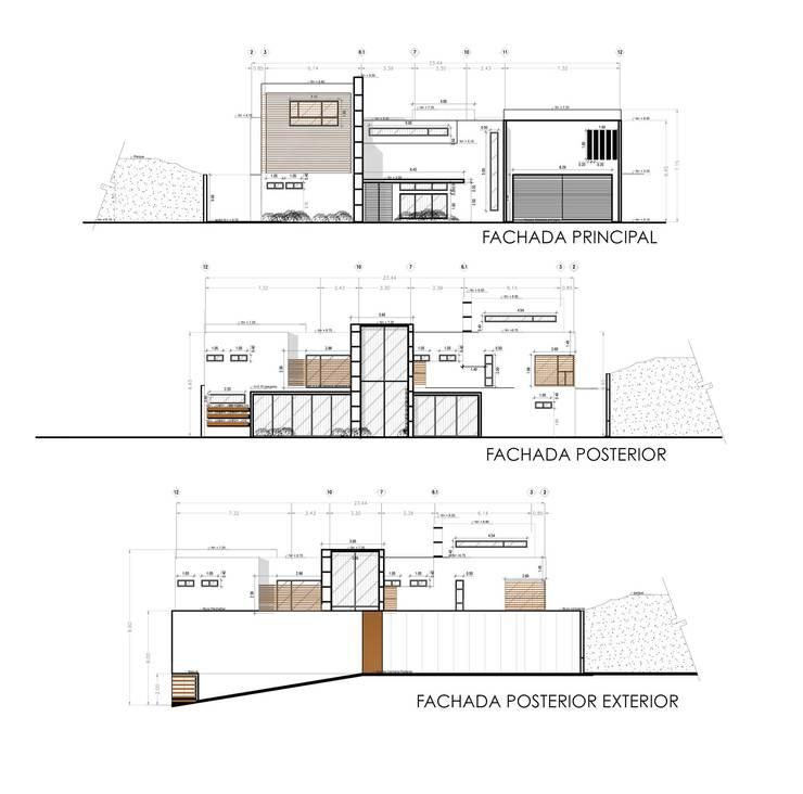 Casas de estilo  de ZUM ARQUITECTURA , Moderno