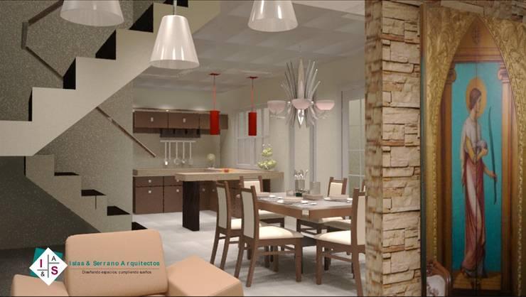 Dining room by ISLAS & SERRANO ARQUITECTOS,