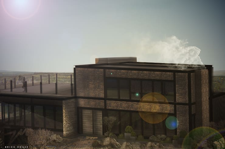 Brick House : Casas de estilo  por ZUM ARQUITECTURA