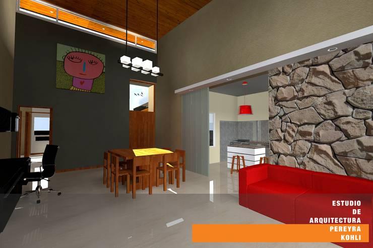 CASA TK Comedores minimalistas de Estudio de Arquitectura Pereyra Kohli Minimalista