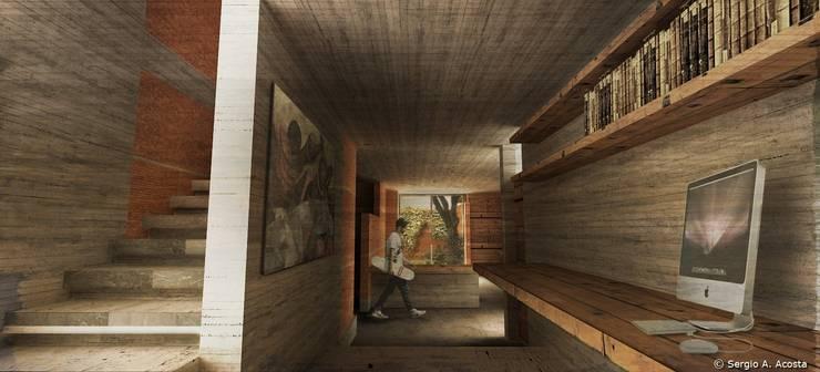 AREA PRIVADA: Pasillos y recibidores de estilo  por 75 Arquitectura