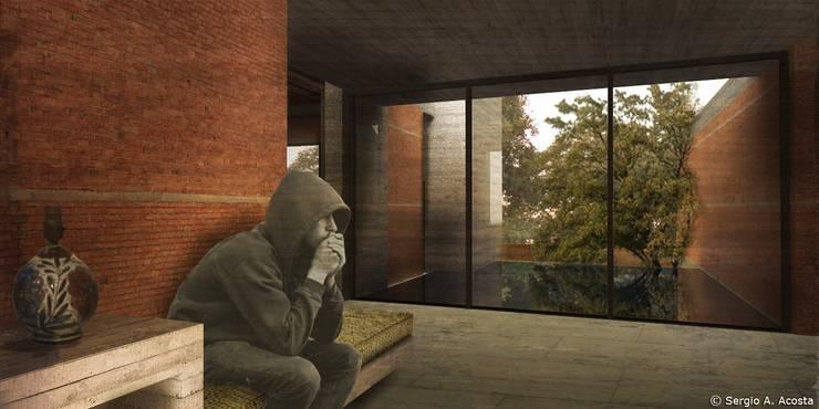 VESTIBULO: Salas de estilo  por 75 Arquitectura
