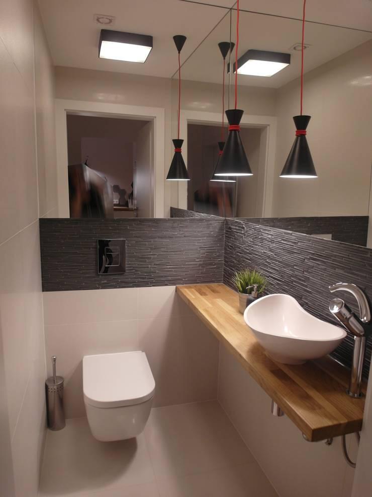 jesienna - łazienki: styl , w kategorii Łazienka zaprojektowany przez NaNovo ,Minimalistyczny Kamień