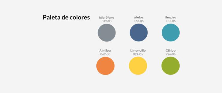 Paletas de colores:  de estilo  por MARIANGEL COGHLAN