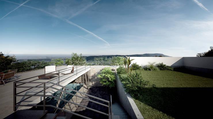 JARDIN/TERRAZA: Jardines de estilo  por ORTHER Architects