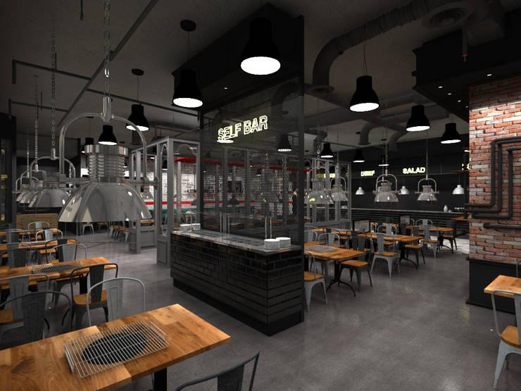 SOERAE BBQ_CHINA MANUAL: 2wavestudio (투웨이브스튜디오)의  상업 공간