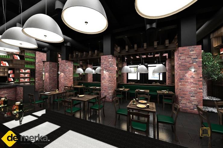 DE MERKA MİMARLIK MÜH.MİM.DAN.HİZ.İNŞ.SAN.TİC.LTD.ŞTİ. – MOSKOVA LOUNGE 2012:  tarz Bar & kulüpler